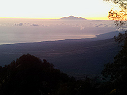 From Mt. Abang sunrise view Mt. Rinjani, Lombok