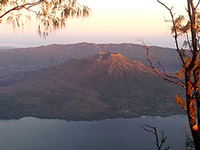 From Mt. Abang sunrise view Mt. Batur