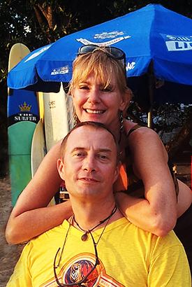 Eelco&Joan op het strand van Kuta