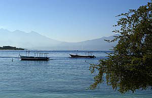 View from Gili Trawangan