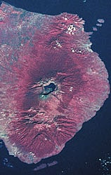 satellite picture from Mt. Rinjani