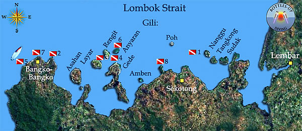 Sekotong area dive sites