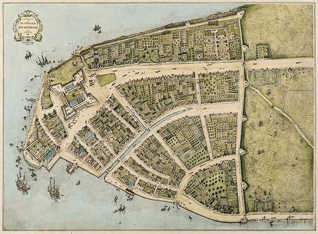 Map of New Amsterdam - 1660