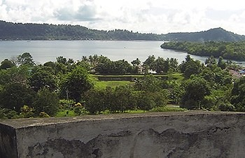 View over fort Nassau from fort Belgica