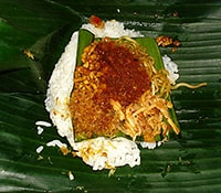 Good reason for getting vaccinated - our favorite dish: nasi Jinggo
