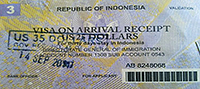receipt for visa on arrival